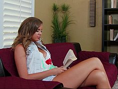 Alexis is horny after reading the book