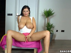 Busty milf latina Jasmine Black seduces young stud