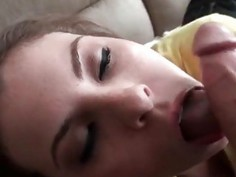 Teenage lusty latina having a taste of hard pecker