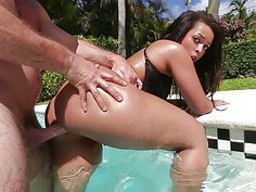 TeenCurves  Big Booty Latina Fucked By The Pool