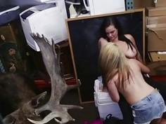 Naughty allie handjob cumshot Lesbians Pawn Their Asses!