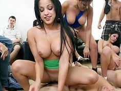 Three huge titted latinas nasty groupsex