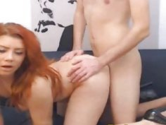 Redhead teen latina fucked doggystyle on webcam