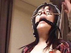 Subtitles bizarre Japanese nose hook BDSM spanking