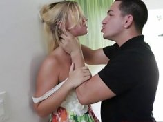 Disobeying stepdad leads to a rough pussy fuck