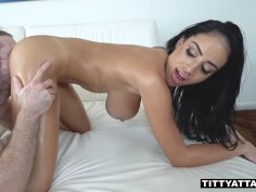 Buxom Latina Victoria June is smashed from the behind