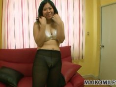 Chubby teen babe Haruka Fukuda stripping and playing with her horny twat