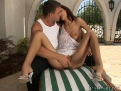 Slim and sexy Leanna Sweet wants to get her pussy licked tenderly