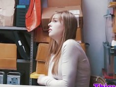 Pale Thief Dolly Leigh Receives Cock In Office