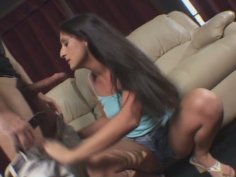 Mexican slut Luscious Lopez gives a head and rides a cock like crazy