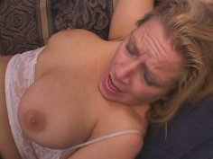 Emotional fat slut Melenka gets fanalucked tough on the couch