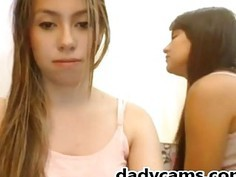 Four Sexy Teens in night clothes On Webcam