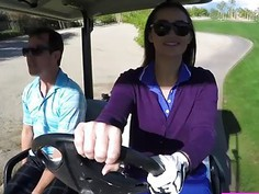 This sexy Dani Daniels spending her days in golf and gets fucked