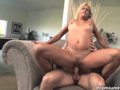 Mature Payton Leigh gets pleasured by young fucker