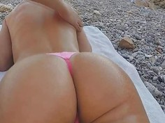 Erica Fontes pussy got fucked at the beach