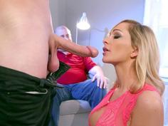 Destiny Dixon has her husband watch as she sucks a stranger's cock