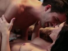 Sexy babe Brooklyn Lee in her hardcore sex scene