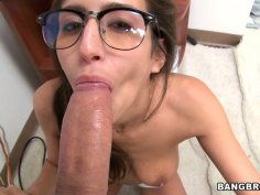 A great cock sucker April ONeil shows her talents on a casting