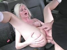 Hot blond passenger ass fucked real hard