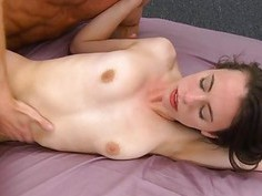 Darling acquires her shaved beaver pounded