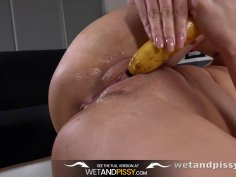 Peeing Her Pants Hot blonde gets wet during pussy play