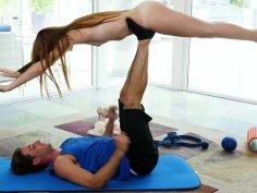 Skinny gymnast Miley cutie gets fucked like a sow