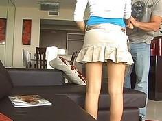 Horny females are giving chap a shlong examination
