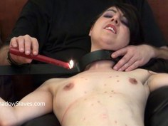 Tied slave Honesty Cabellero whipped