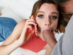 Hot teen slut gets fucked while on the phone