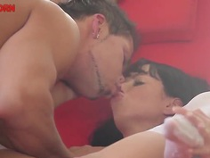 Gina Devine checks out nice poses with her lover