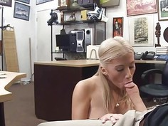 Cutie blonde chick spreading her sweet vagina for a price