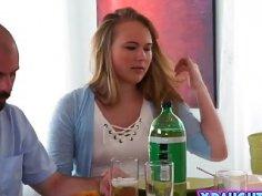Nasty teen Alyssa Cole seduces