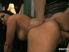 Busty gorgeous chick Isis Love rides a cock professionally well