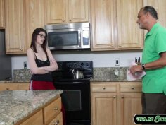 Busty stepsis sucks n fucked by stepbro