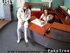 Doctor fucks patient after nurse