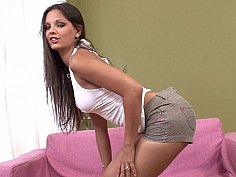 Eve Angel takes her clothes off
