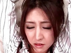 Asian in stockings gets cunt rubbed