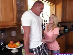 Blonde Step Daughter Bailey Brooks Ride Big Dick