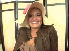 Weird blondie in hat Whitney Grace desires to suck and ride a tasty lollicock