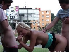 Young blonde girl street PUBLIC fuck in broad daylight