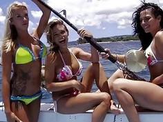Badass girls enjoyed outdoor activities