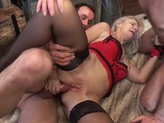 French mature blonde - William - couple - bisexual