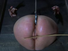 Blonde whore Cherry Torn gets her ass hooked up in a hardcore BDSM video