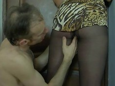 Miriam&Peter nasty pantyhose action