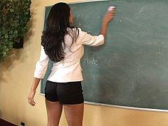 Sexy teacher Miss Carmella Bing helps this asshole