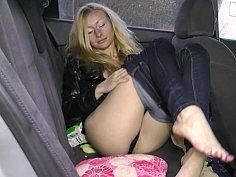 Backseat hairy pussy